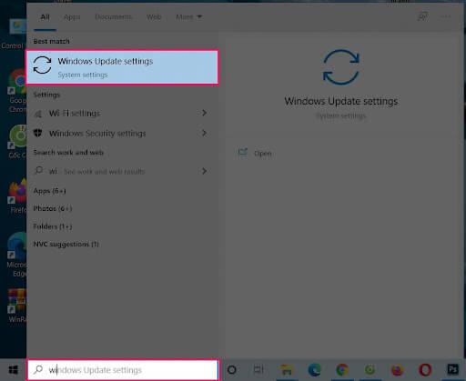 windows update setting