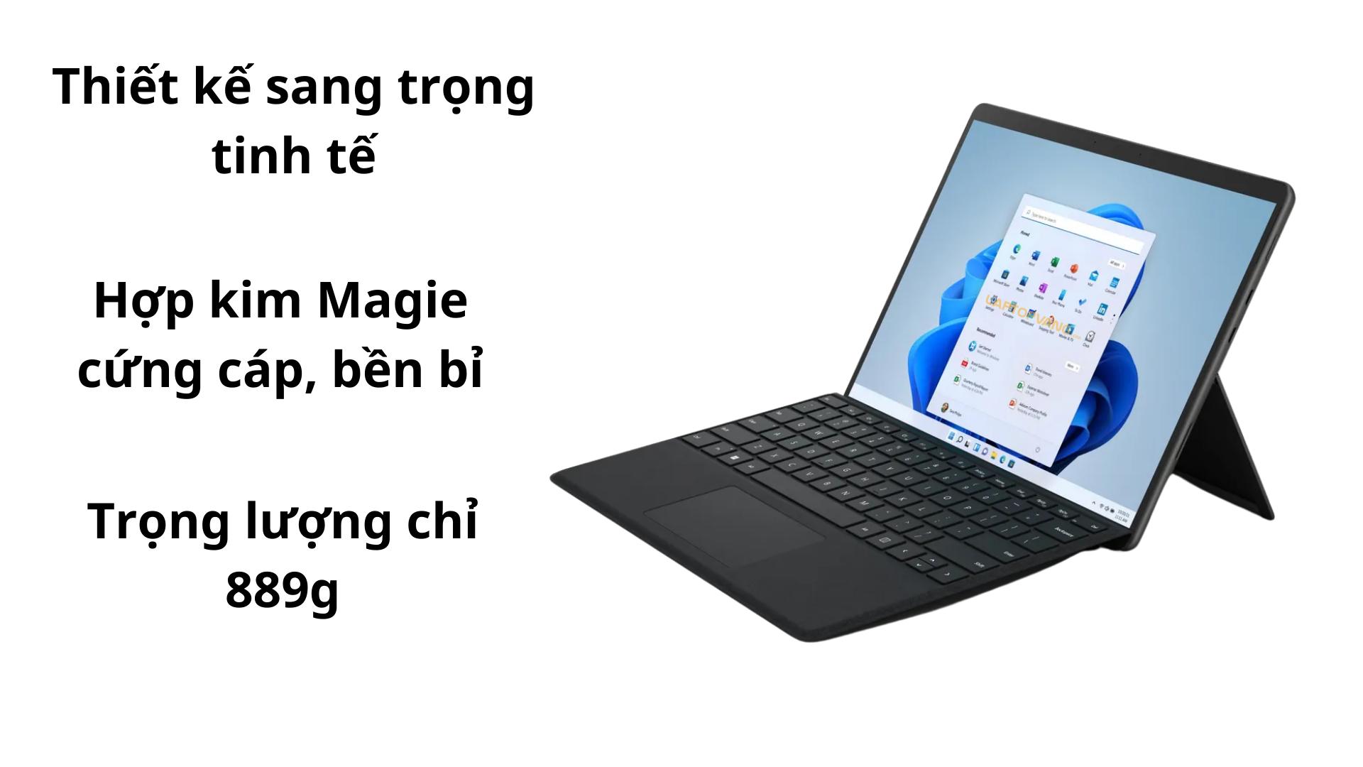 Thiết kế trên Surface Pro 8 2021