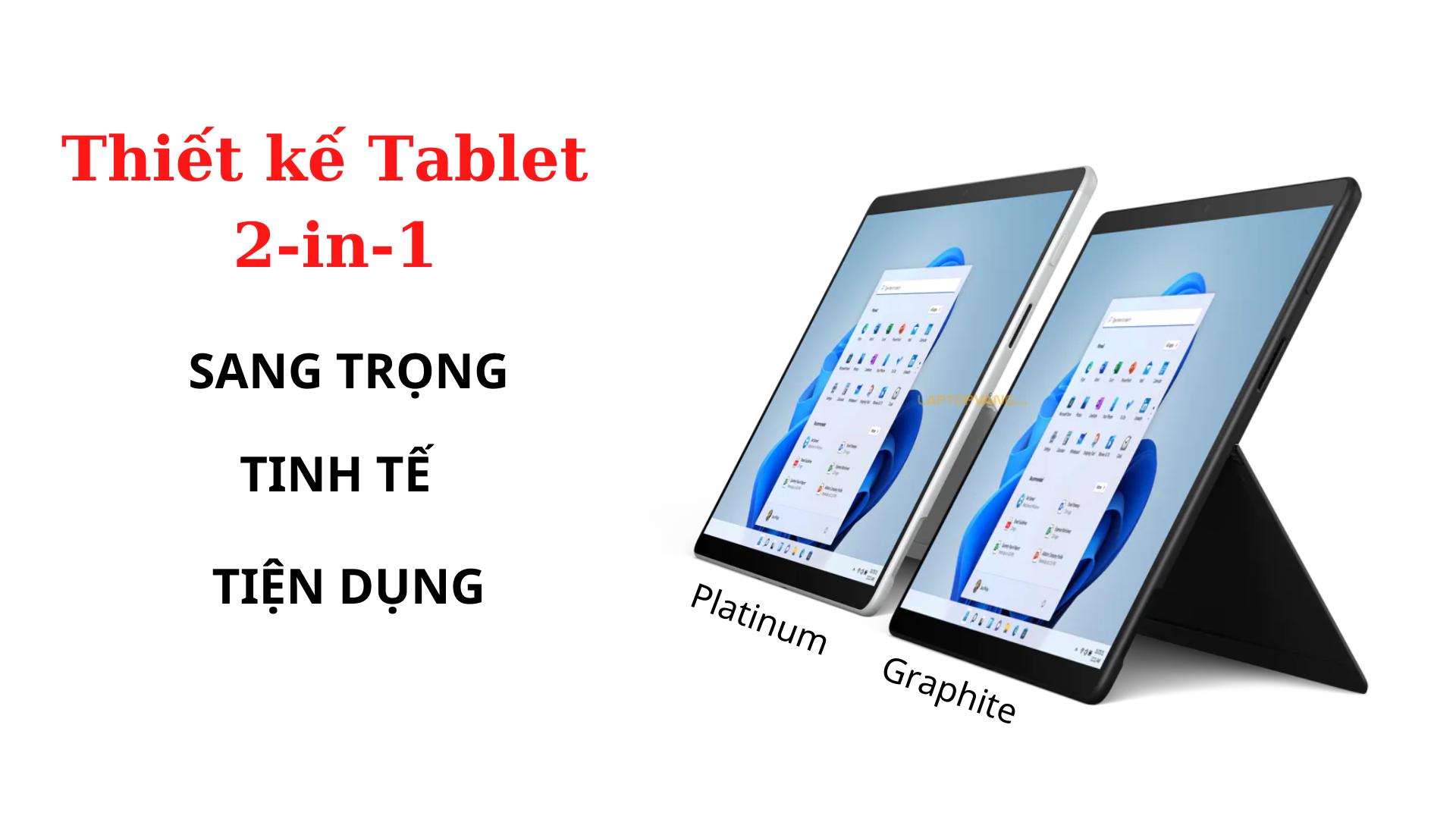 Thiết kế trên Surface Pro 8 laptopvang