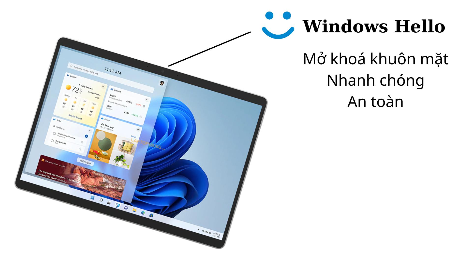 Windows Hello trên Surface Pro 8