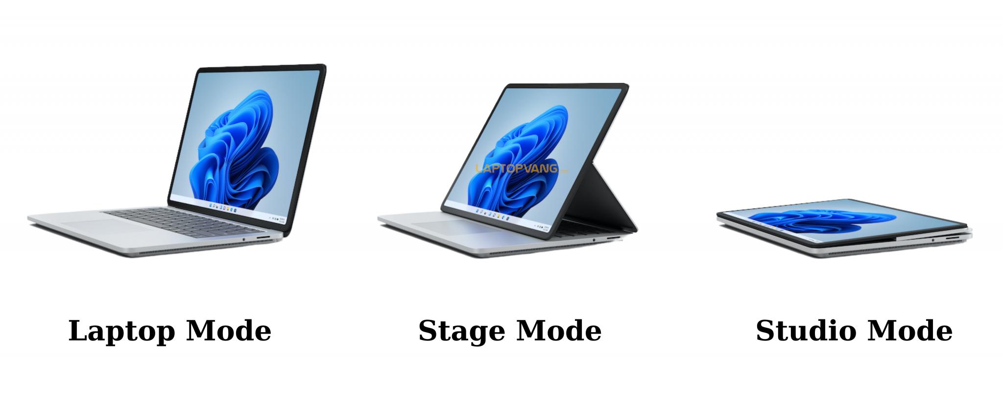 các mode của surface laptop studio