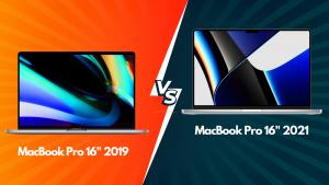 compare MacBook 16 2019 vs MacBook Pro 2021